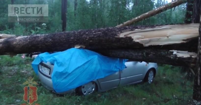 На озере Боровое в Абанском районе накануне случился шторм