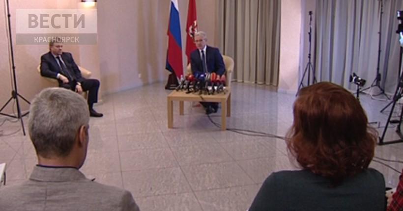 Итоговая пресс-конференция врио Губернатора Красноярского края Александра Усса