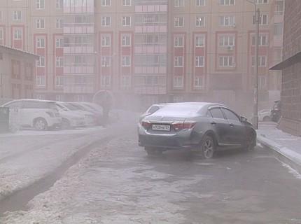 В Октябрьском районе Красноярска произошла коммунальная авария
