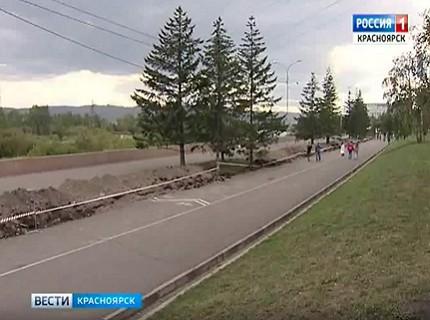 Чиновники отчитались о ходе ремонтных работ на красноярской набережной