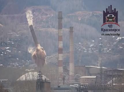 В интернете появилось видео взрыва трубы на Цементном заводе