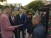 На бульваре Менжинского в Красноярске появился «Город героев»
