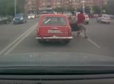 В Красноярске водитель и пассажир ВАЗа тормозили машину ногами