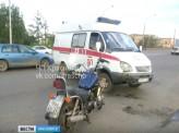 Накануне в Красноярске на въезде на Коммунальный мост мотоциклист врезался в карету скорой помощи